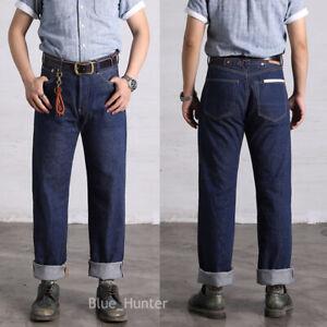 Red-Wind-Repro-702-Vintage-Jeans-Selvedge-Denim-High-Rise-Loose-Fit-Blue-ONEWASH