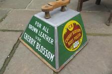 Original  CHERRY BLOSSOM   enamel Advertising sign SHOESHINE BOX  VGC