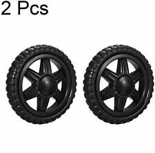 Shopping Cart Wheels Travelling Trolley Caster 5 Inch Dia Rubber Foaming 4 Whl