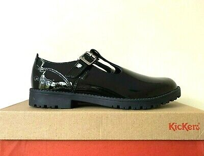 Kickers Lachly T Bar Patent Leather