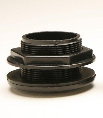 Thread X Slip Abs Plastic Bulkhead Fitting 1-1/2-inch Made In Usa Short