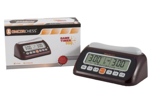OMCOR Digital chess game timer clock with chess960 option.