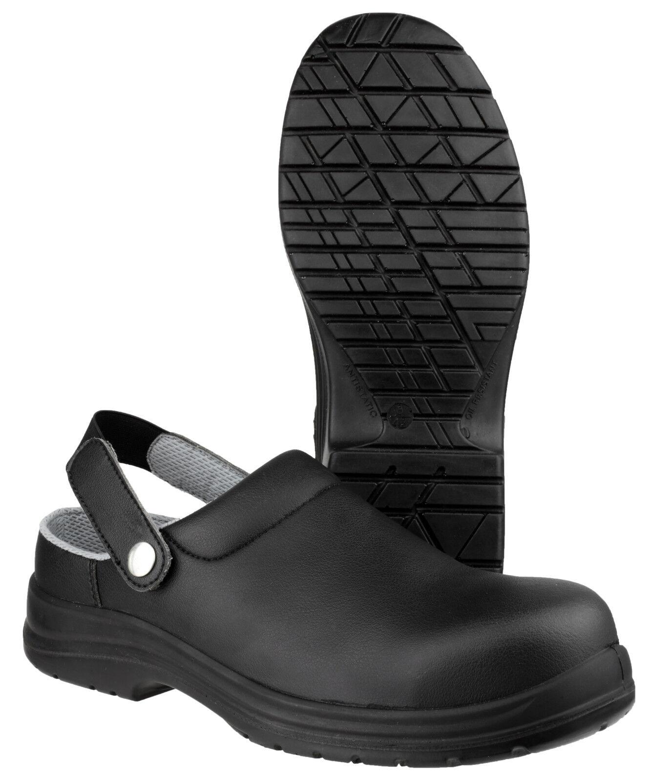 Amblers FS514 Slip On Clog Toe Predection Mens Unisex Work shoes UK3-12