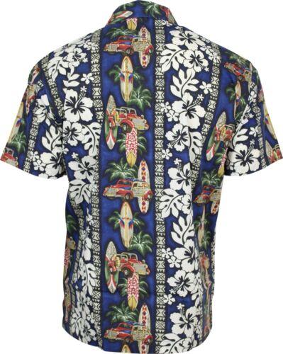 Relco Homme Hawaïen Chemise à manches courtes années 50 Aloha Rétro Indie Surf Palm Beach