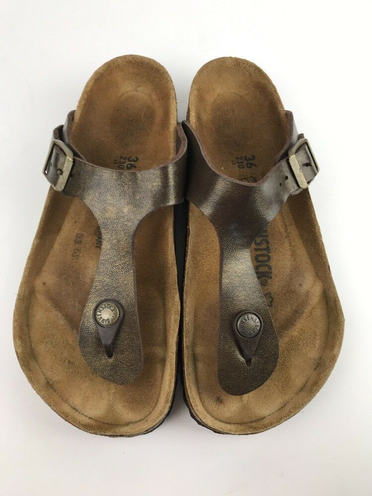 Birkenstock Gizeh Braun Birko-Flor Thong Slide Sandales Größe 36 / 6 W