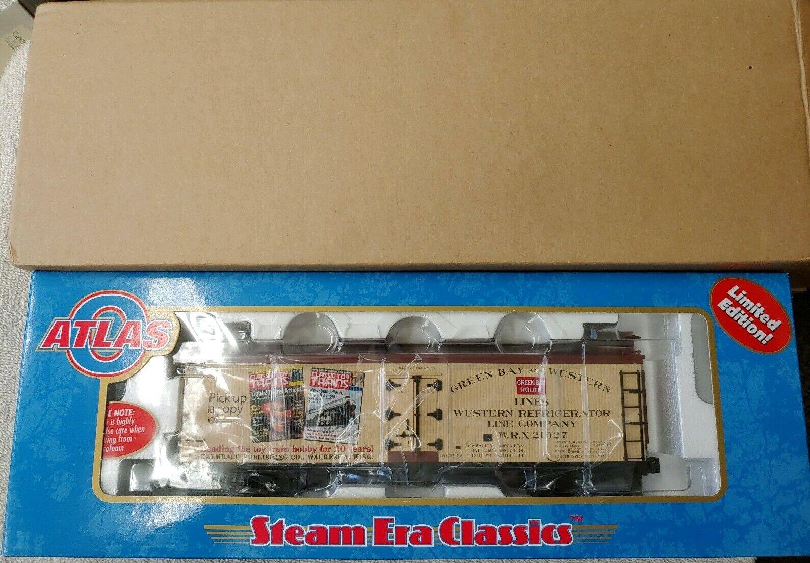 ATLAS  8184, o scale, classeic giocattolo i treni 3RAIL Legno Reefer Auto Nuovo in Scatola, WOB. F28