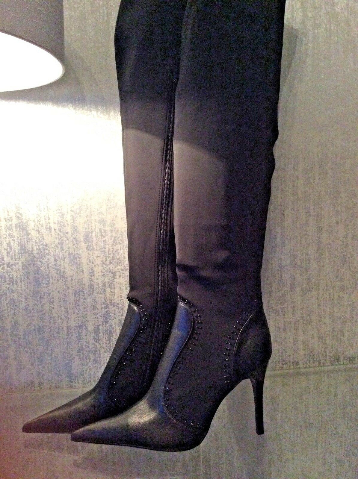 Black Knee high high high party boots size 8 5f52e2