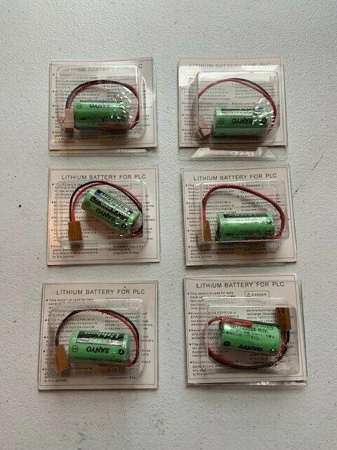 (6) Mitsubishi CR17335SE-R/3V Q6BAT PLC 3V Li-ion Battery Lot of 6 NEW