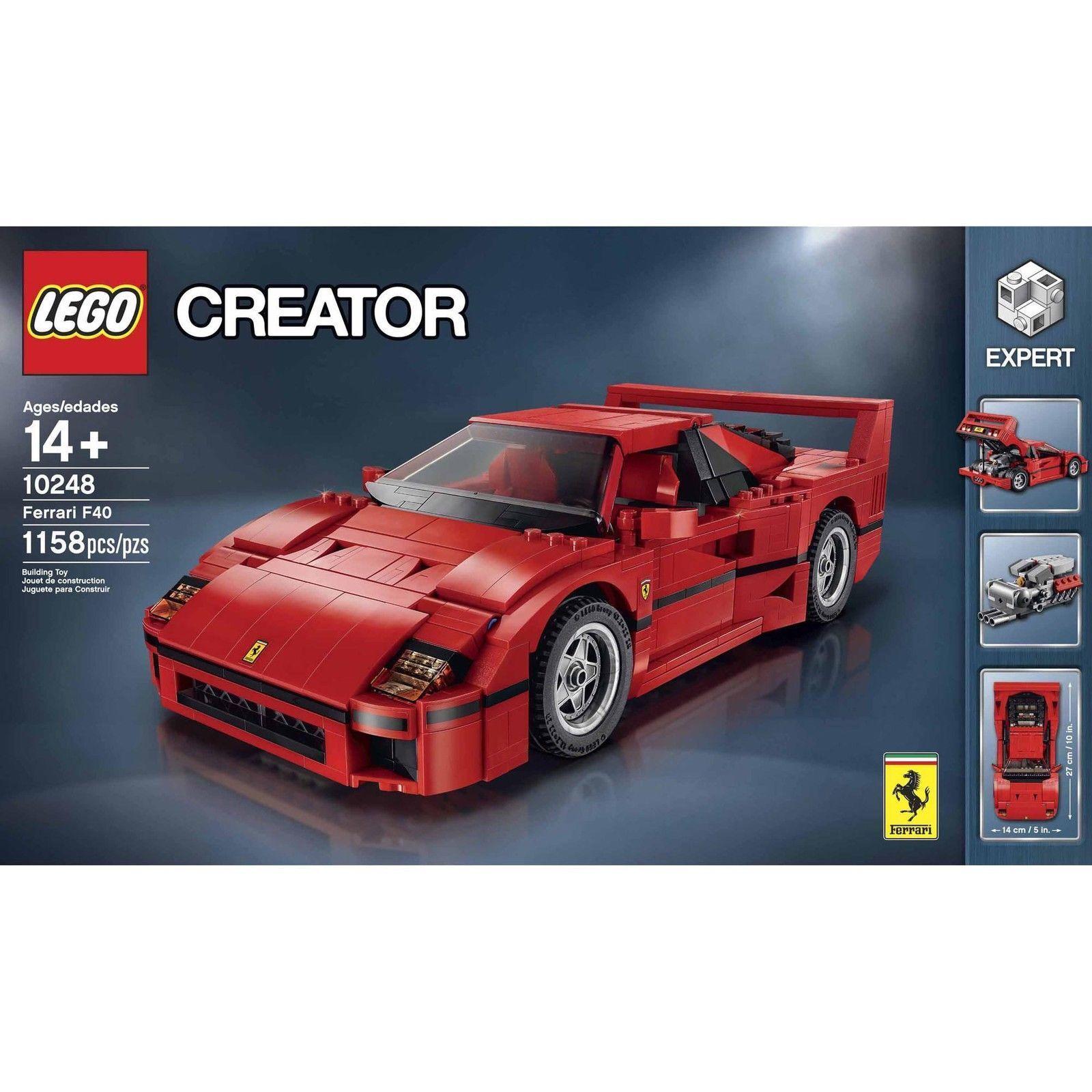LEGO Skapare Ferrari F40 (10248) NIB Sällsynt förslutet