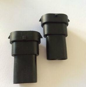 2x h8 h9 h11 880 881 male bulb socket connectors led hid. Black Bedroom Furniture Sets. Home Design Ideas