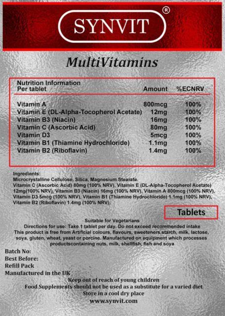 Multi Vitamin 90tabs on Buy 1 Get 1 Free Deal - Vits A, E,B3,C,D3,B1,B2, SYNVIT®