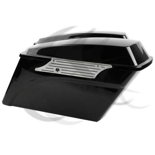 Billet Hard Saddlebag Bags Latch Cover Face Chrome Fit For Harley Touring 93-213