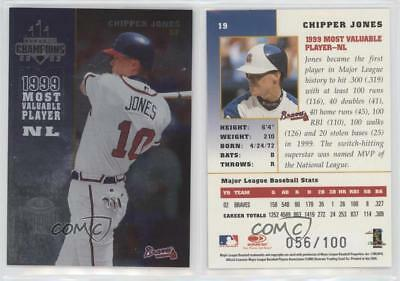 2003 Donruss Champions Metalized 19 Chipper Jones Atlanta Braves