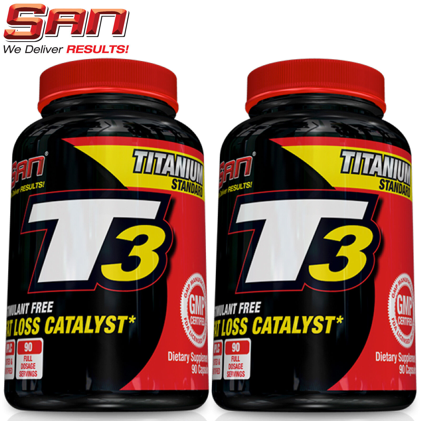 SAN T3 Supplement - Thyroid Support Burner Strong Fat Burner Support Weight Loss Diet Pills 438dc2