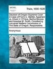 Decision of Oregon Supreme Court in Case of Frank C. Stettler, Appellant vs. Edwin V. O'Hara, Bertha Moores and Amedee M. Smith, Constituting Industrial Welfare Commission of the State of Oregon. Respondents by Anonymous (Paperback / softback, 2012)