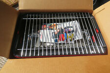 Vintage Sunbeam Grillmates Tabletop Grill Charcoal New In Original Box 81068 Red