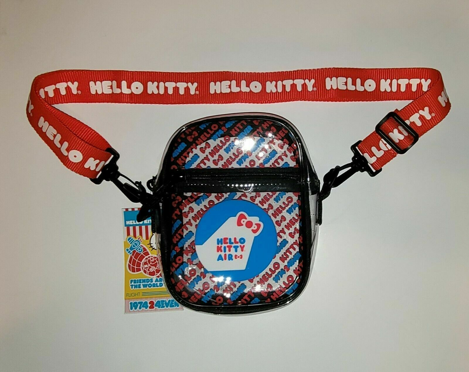 Hello Kitty 45th Anniversary Friends Around the World Tour Clear Crossbody Bag
