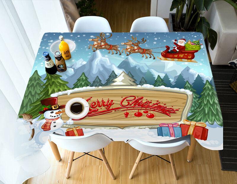 3D Christmas Xmas 58 Tablecloth Cover Cloth Birthday Party Event AJ WALLPAPER AU