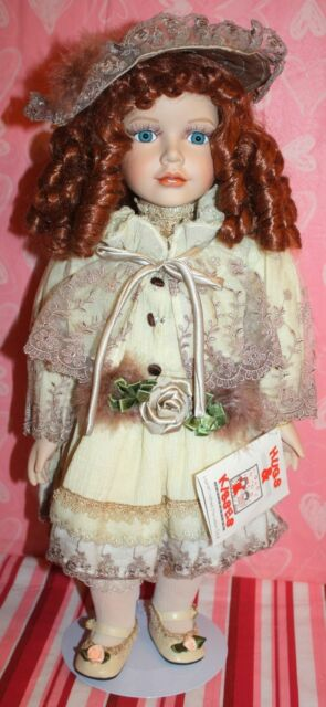 "*NEW* WILLIAM TUNG DOLL HUGS & KISSES COLLECTION LE 20"" ELISHA PORCELAIN RETIRED"