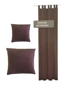 Rideau-Etoffe-pour-decoration-Boucles-Housses-de-coussins-Marron-Velours-Optique
