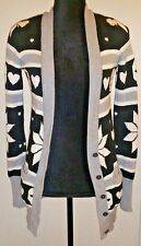 Victoria Secret Pink Skull Graphic Cardigan Sweater Long Sweater Jacket VS XS