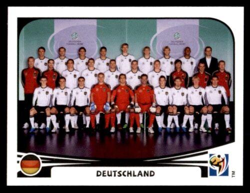 PANINI WORLD CUP 2010-Team Photo DEUTSCHLAND Nº 258
