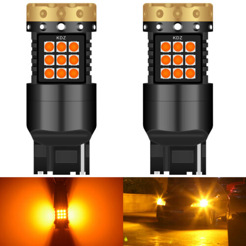 2 x T20 Ampoule Canbus LED 7443 7440 18W ORANGE Feux De Jour Clignotant Ampoules