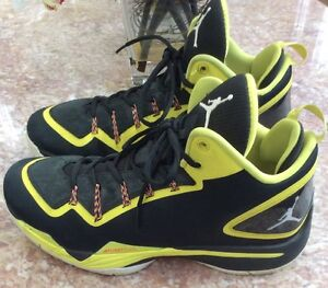 Nike Jordan Super Fly 2 PO Men Black Yellow Basketball Shoes Sz 11.5 ... 2daa7134686