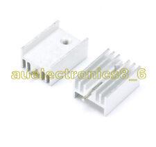 Cn /_ 100pcs TO-220 Kühlkörper Aluminium TO220 19x15x10mm Ic Transistoren
