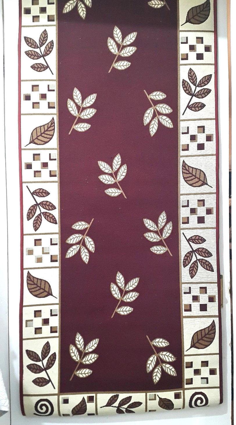 NEW Cotton Polyester Blend Carpet Runner (99  x 26 )  & Rug (26  x 18.5  Approx)