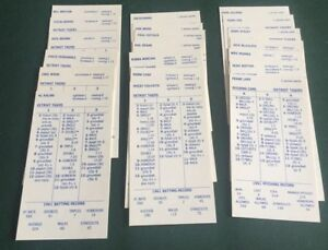 Details About Strat O Matic Baseball Game 1961 Detroit Tigers Team Set 20 1 Sided Cards