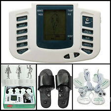 ELECTRICAL STIMULATOR RELAX MUSCLE MASSAGE SLIPPER 4 PADS ACUPUNCTURE TREATMENT