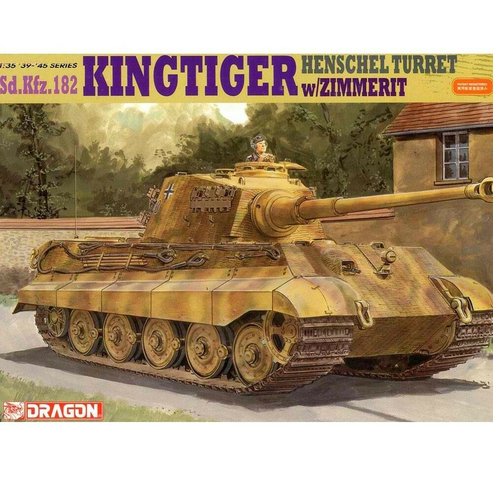 Dragon 1 35 6303 King Tiger Henschel Turret w  Zimmerit Model Kit