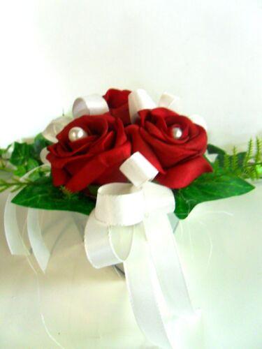 Tischdeko Hochzeit Taufe Kommunion Geburtstag Rosen rot Tischgesteck
