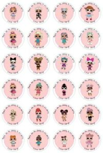 24 Personalised Lol Dolls Birthday Goody Bag Stickers Party Thank