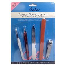 Cala Manicure Kit 6pc Clipper Tweezer Trimmer Nail File Emery Boards Quality NEW