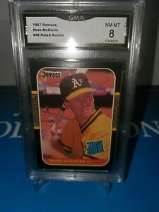 GMA-8-NM-MINT-MARK-MCGWIRE-1987-DONRUSS-46RATED-ROOKIE-LONG-GONE-SUMMER
