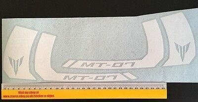 2x Pink Sticker MT-07 250mm Wide X 106mm Tall Stickers Decal