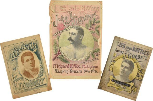 Incredibly Rare 1891 John L. Sullivan & James J. Corbett Boxing Books (3 bks)