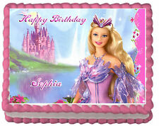 Barbie Girl's Birthday Premium Frosting Sheet Edible Cake Topper