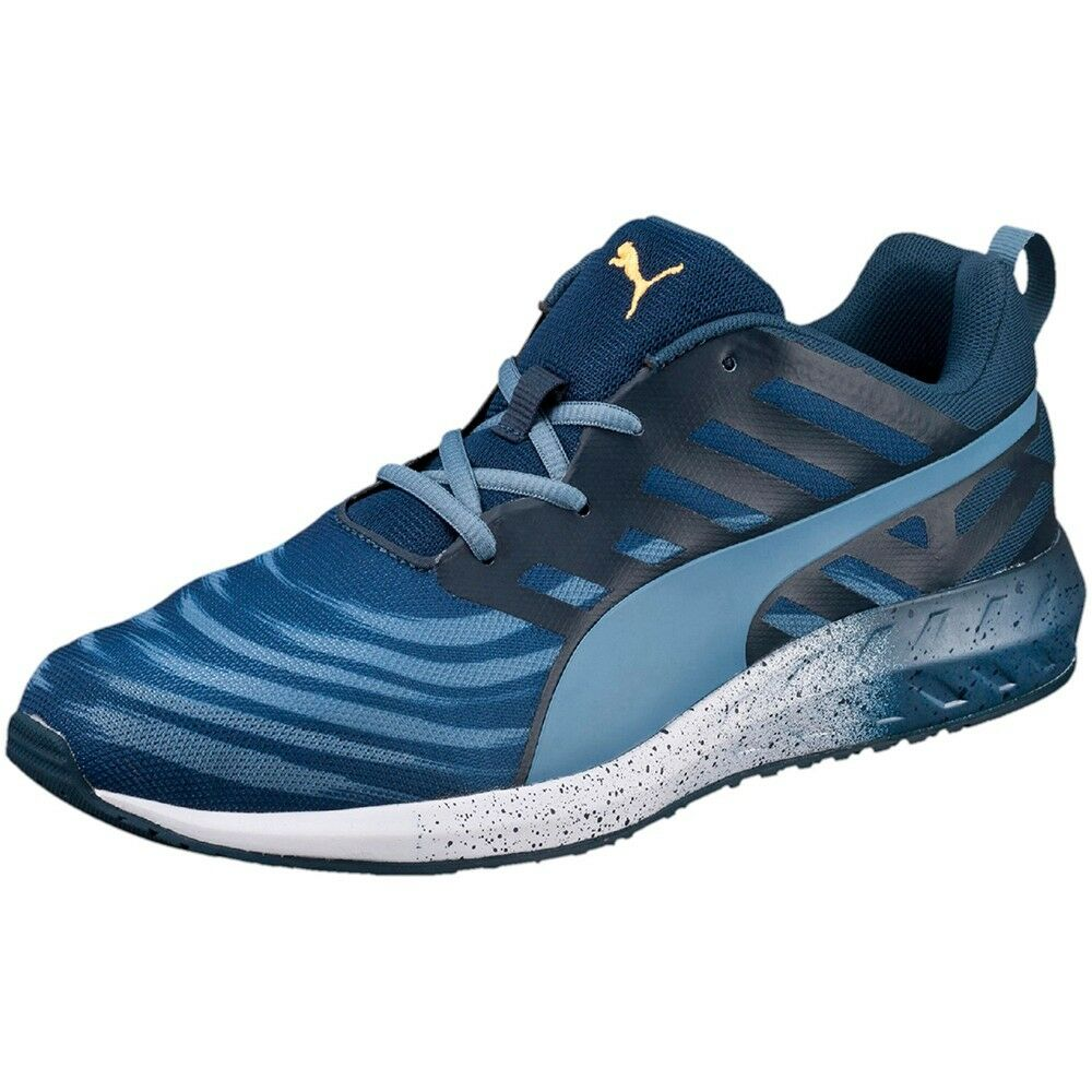 PUMA FLARE GRAPHIC RUNNING SNEAKERS MEN SHOES BLUE/BLACK 188638-02 SIZE 13 NEW