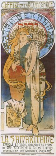 Mucha Sarah Bernhardt Samaritaine Theater  Vintage Poster Repro FREE SHIPPING