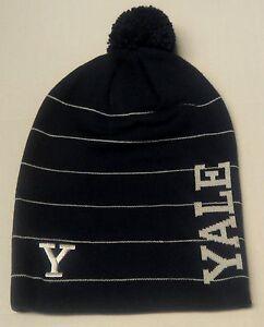79023f76211 NWT NCAA Yale Bulldogs Adidas Fall Back Pom Winter Knit Hat Beanie ...