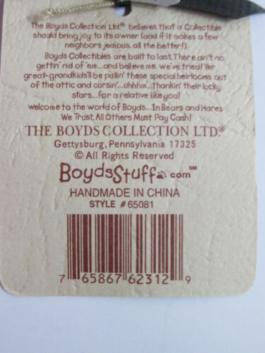 "Boyds Large Metal Burgundy Logo Display Stand Adjustable 7/""-12/""tall #65081 MINT"