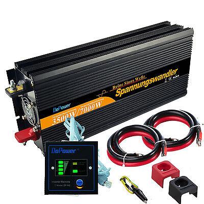 3500W 7000W Power Inverter DC 12V AC 220V 230V inverter onda pura Remote