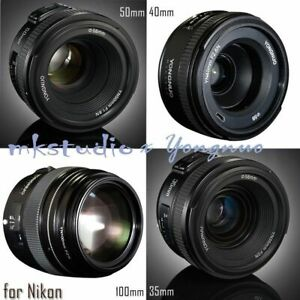 Yongnuo-YN-100mm-50mm-40mm-35mm-EF-MF-AF-Prime-Fixed-Lens-for-Nikon-D800-D90