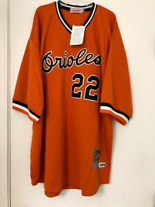 the latest d95b4 ecac8 Details about NEW MITCHELL & NESS JIM PALMER BALTIMORE ORIOLES 3X 56  THROWBACK JERSEY 1976
