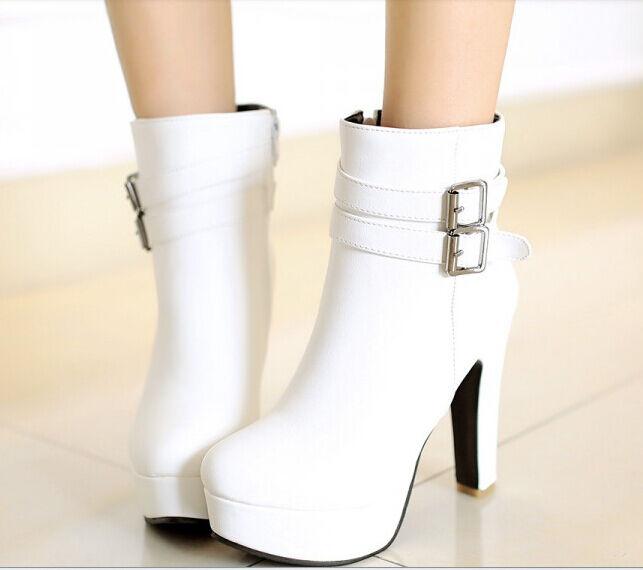 botas botas 11 cómodo alto mujer talón 11 botas cm blanco 8778 ca9dd1