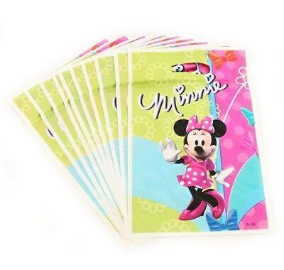 Baking Accs. & Cake Decorating 20 Pcs Set Minnie Mouse Candy/goody Plastic Bags Kids Birthday Party Supply Easy And Simple To Handle Other Baking Accessories