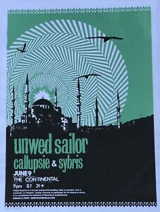Unwed-Sailor-Show-Poster-Denny-Schmickle-18x24-Green-Colorway-TULSA